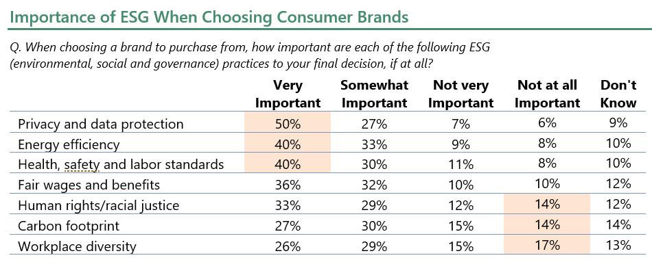 Importance of ESG When Choosing Consumer Brands